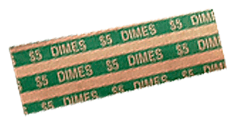 Flat Dimes Coin Wrappers Dimes