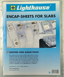 Lighthouse Certified Coin Slab Album Pages - Pack of 2 Certified Coin Album Pages, Lighthouse, ENCAPSLAB