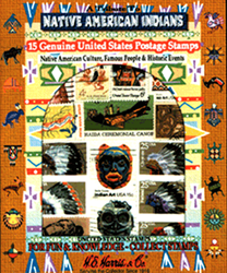 Native Americans US- 15 Stamps Native Americans US -- 15 Stamps, HE Harris & Co, 9TRT3400