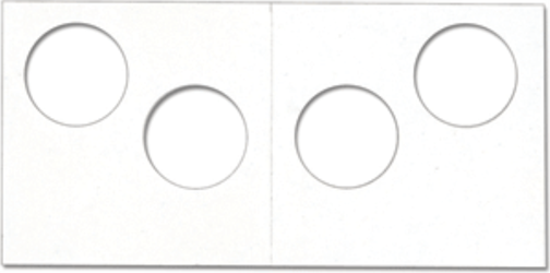 Cowens Two-Hole Coin Flip Cardboard 2x2 cardboard coin flip, 2 Hole Paper 2x2 Coin Holders Cowens, Cowens, 2510