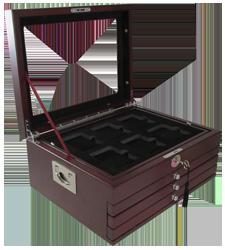 24 Coin Slab Wood Display Box