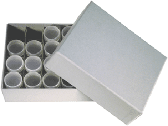 Guardhouse Small Dollar Tube Storage Box - Gray
