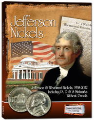 Cornerstone Coin Album Jefferson Nickels 1938-2012
