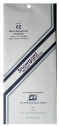 Showgard Stamp Mounts 82x240mm Black