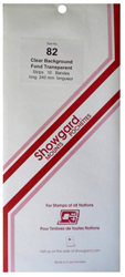 Showgard Stamp Mounts 82x240mm Clear