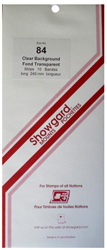 Showgard Stamp Mounts 84x240mm Clear