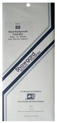 Showgard Stamp Mounts 89x240mm Black