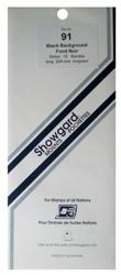 Showgard Stamp Mounts 91x264mm Black