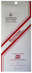 Showgard Stamp Mounts 91x264mm Clear