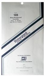 Showgard Stamp Mounts 105x264mm Black