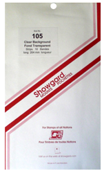 Showgard Stamp Mounts 105x264mm Clear