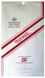 Showgard Stamp Mounts 107x264mm Clear
