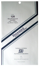 Showgard Stamp Mounts 120x240mm Black