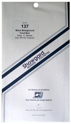 Showgard Stamp Mounts 137x264mm Black