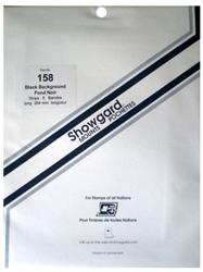 Showgard Stamp Mounts 158x264mm Black