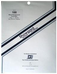 Showgard Stamp Mounts 188x264mm Black