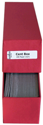 Cent 2x2 Paper Coin Holders w/ Guardhouse Box Cent
