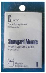 Showgard Stamp Mounts 50x31mm Black