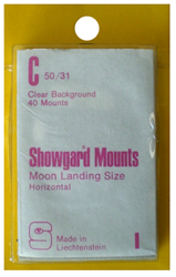 Showgard Stamp Mounts 50x31mm Clear