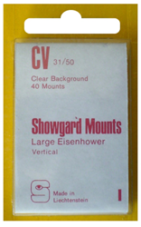 Showgard Stamp Mounts 31x50mm Clear