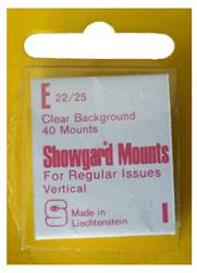 Showgard Stamp Mounts 22x25mm Clear