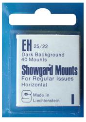 Showgard Stamp Mounts 25x22mm Black