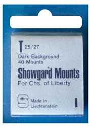 Showgard Stamp Mounts 25x27mm Black