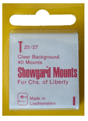 Showgard Stamp Mounts 25x27mm Clear