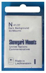 Showgard Stamp Mounts 40x27mm Black