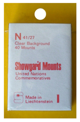 Showgard Stamp Mounts 40x27mm Clear