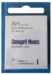 Showgard Stamp Mounts 41x31mm Black