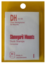 Showgard Stamp Mounts 52x36mm Clear