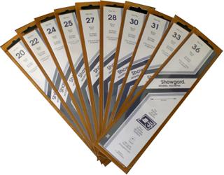 Showgard Stamp Mounts 27x215mm Black