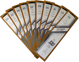 Showgard Stamp Mounts 28x215mm Black