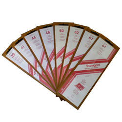 Showgard Stamp Mounts 50x215mm Clear