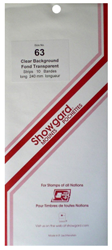 Showgard Stamp Mounts 63x240mm Clear