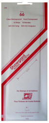 Showgard Stamp Mounts 66x240mm Clear