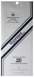 Showgard Stamp Mounts 68x240mm Black