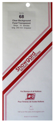 Showgard Stamp Mounts 68x240mm Clear