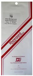 Showgard Stamp Mounts 70x264mm Clear Showgard, Clear, stamp mounts, stamp collecting, stamp album, 70x264mm