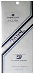 Showgard Stamp Mounts 80x240mm Black