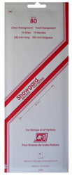 Showgard Stamp Mounts 80x240mm Clear