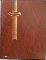 Supersafe Stamp Stockbook - 16 Black Pages Brown Cover