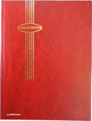 Supersafe Stamp Stockbook - 32 Black Pages Red Cover