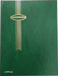 Supersafe Stamp Stockbook - 32 Black Pages Green Cover