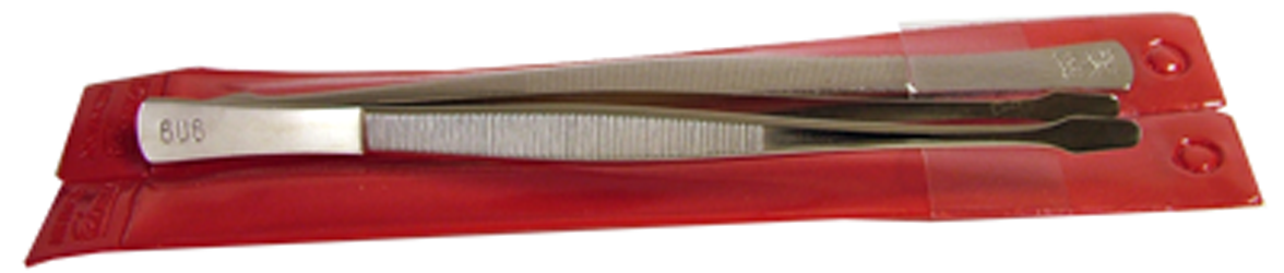 Showgard Spade Tip Stamp Tongs - 6""