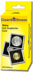 Guardhouse Tetra 2x2 Snaplock Coin Holder - Nickel