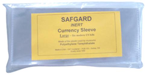 SAFGARD Large Inert Currency Sleeves