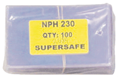 Supersafe NPH230 Fractional Note Currency Sleeves - 100 pack 3 1/8 x 5 1/4 Supersafe NPH230 Fractional Currency Sleeves 100 pack, Supersafe, NPH230