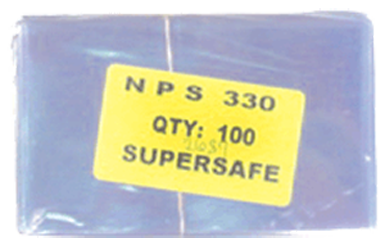 Supersafe NPS330 Fractional Note Currency Sleeves - 100 pack 3 1/8x5 1/4 Supersafe NPS330 Fractional Currency Sleeves 100 pack, Supersafe, NPS330